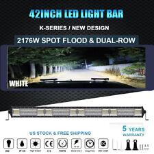 Slim 42inch 2176W Straight LED Light Bar Combo Beam DUAL-ROW OFFROAD Truck Boat