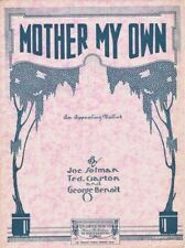 Mother My Own, 1920  vintage sheet music