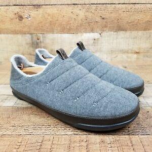 Olukai Mahana Men Sz 11 Gray Slippers Slip On Comfort Shoes