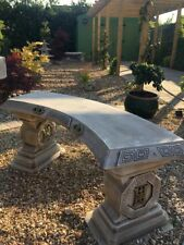 Japanese Curved Bench - Garden Bench - Stone Bench