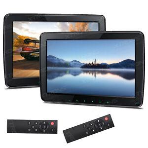 """2x 11,6"""" IPS HD LCD Auto Aktiv Kopfstützen Monitor HDMI 1080P Video USB 1366*768"""