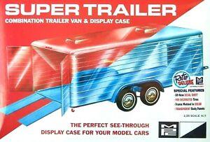 MPC 1:25 Super Trailer Transparent Display Case/Trailer Model Kit