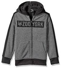R719 - Zoo York Heavy Sherpa Lined Zip Hoodie - NWT Boys Medium 10/12 #28548-E7