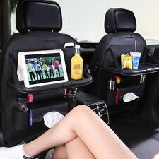 2x Car Seat Back Leather Bag Folding Table Organizer Drink Chair Storage Pocket
