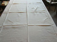 "Vtg White Banquet Tablecloth. Table Linens. Wedding 60"" x 108"""