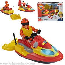 Feuerwehrmann Sam Jet Ski Blau Licht Juno Spielfigur Elvis Boot Dickie 109251662