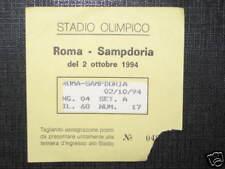 ROMA - SAMPDORIA TICKET BIGLIETTO 1994/95 SERIE A