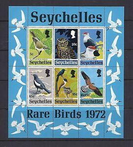 SEYCHELLES 1972 RARE BIRDS souvenir sheet (Scott 304a) VF MNH