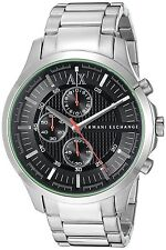 Armani Exchange Men's AX2163 Chronograph Black Dial Stainless Steel Watch