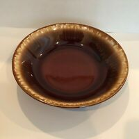 """Crestone Brown Drip Hull Pottery 8"""" Round Serving Serving Bowl USA - Spectacular"""
