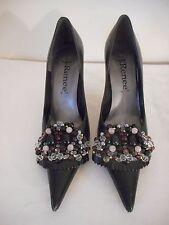 "J. Renee womens Size 6 M 3 1/2"" heel black with black purple clear beading"