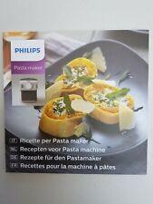 PHILIPS Macchina per pasta ricette (lingua IT, NL, de, fr)