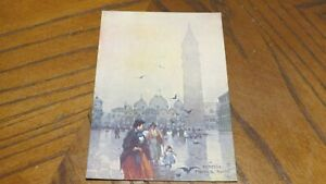 POSTCARD VINTAGE FOREIGN ITALY VENICE ST MARK'S SQUARE ART
