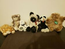 Boyds Bears plush cats, various cats - lot of 6