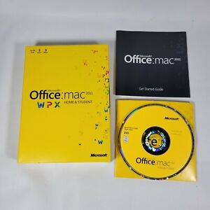 NEW MS Microsoft Office MAC 2011 Home and Student Family Pack For 3PCs software
