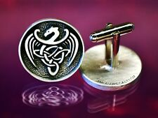 Celtic Dragon Cuff Links | Celtic | Medieval | Renaissance | Handcrafted Pewter