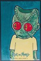 David Lee 1/1 Original Art Sketch Card of Rick & Morty Season 3 Cryptozoic NM SP