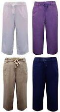 Evans Wide Leg Linen Blend Trousers for Women