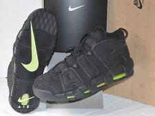 New 2012 Nike Air More Uptempo Retro Black/VOLT Green Pippen sz 13 RARE Max DS