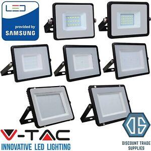 V-TAC LED Floodlight Outdoor 10-200 Watt IP65 Black 6400K Samsung LED IP65