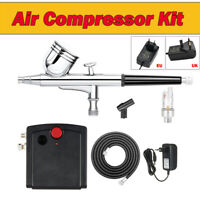Nozzle Spray Gun Mini Airbrush Kit Compressor Air Brush Paint Nail Dual Action