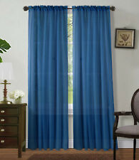 """2Pc Sheer Voile Window Panel curtains DRAPE 63"""" ,84 ,95"""" or 1Pc SCARF MANY COLOR"""