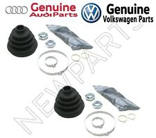 For Audi VW Pair Set Front Outer CV Joint Boot Kit Clamps & Grease OEM Genuine