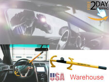 Vehicle Steering Wheel Lock Twin Hooks Universal Fit Durable Car Security System