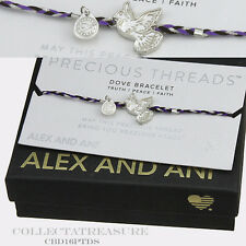 Authentic Alex and Ani Precious Threads Dove Sterling Silver Bracelet