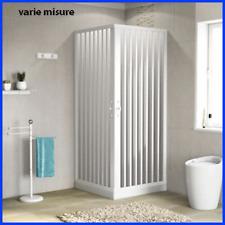 box doccia pvc cabina angolare 2 lati a soffietto misura regolabile resistente