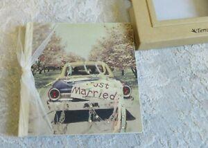 Terra Traditions photo albumn Just married- crystal Svarovyski embellished- NWT