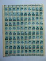 Markenbogen Deutsches Reich 1923, 30Tsd auf 200 Mark Mi285, Plattenfehler Mi285I