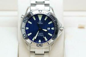 Gents Full Size Omega Seamaster Wristwatch 41mm Quartz - Boxed & Ready to Wear
