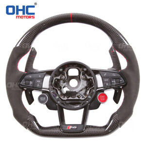 FOR AUDI TT R8 TTRS RS4 RS5 S3 S4 S5 A4 A5 STEERING WHEEL CARBON FIBER CUSTOM