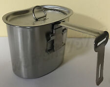WWII STYLE Stainless Steel Canteen Cup With Vented LID for 1 QT. Canteen.