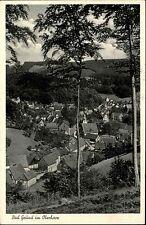 Cartolina timbro bagno motivo IBERG AK 1961 CASE partita uccelli guarda-prospettiva