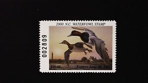 DR JIM STAMPS US STATE DUCK $10 NORTH CAROLINA WATERFOWL NC-18 MINT NH 2000