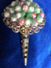 Bouquet - Stunning Piece Vintage Brooch Rare Colourful Flower