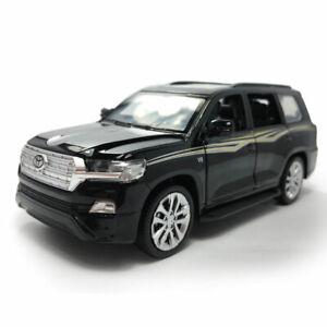 1:32 Toyota Land Cruiser SUV Model Car Diecast Gift Toy Vehicle Kids Sound Black