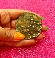 1901 Sweden, Oscar II, bronze Art Nouveau Medal  by Lindberg ,boxed