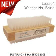 Leecroft Wooden Nail Brush For Manicure Pedicure Scrubbing Cleaning Both SIde