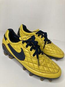 Nike Ronaldinho Dois FG Size 7 , 6 Mens Yellow Gold R10 SUPER RARE 🔥