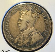 * * CANADA 1913 (GEORGE V) 50 CENTS SILVER...LOW MINTED 265 K. **