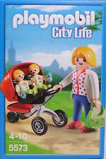 PLAYMOBIL City 5573 Zwillings-Kinderwagen Mutter Frau Zwillinge Handtasche NEU