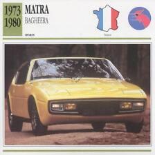 1973-1980 MATRA BAGHEERA Sports Classic Car Photo/Info Maxi Card