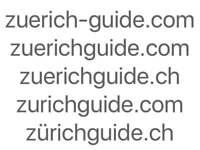 Domain Paket Zürich Zurich Guide 5 Domains