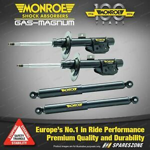 Monroe F + R Gas Magnum Shock Absorbers for Nissan X-Trail T31 ST ST-L S/Wagon