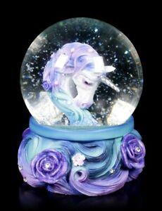 Einhorn Schneekugel - Pure Elegance - Nemesis Now Fantasy Glitzerkugel Deko