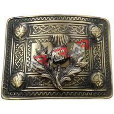 Men's Celtic Kilt Belt Buckle Thistle Antique Finish / Celtic Kilt Belt Buckle