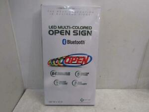 Green Light Innovations GLI1050B LED Mulit-Colored Open Sign